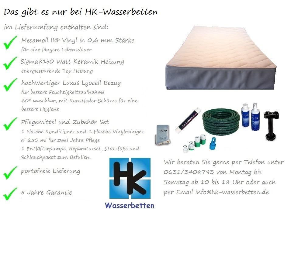 Wasserbettmatratze für Lattenrost
